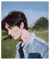 Boy Study [Video Painting link in description] by DavidPan