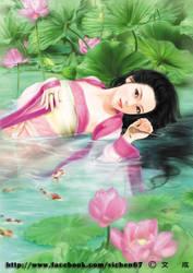 Lotus goddess by vichencolor