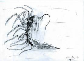 dead space necromorph .leech. by bloodypenalper