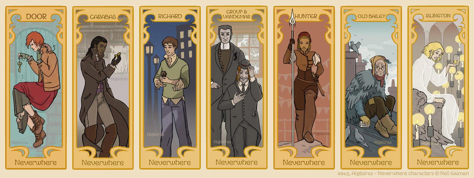 Neverwhere Characters by Algesiras
