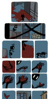 Pet Wendigo strip 11 - A bird made of blood by Algesiras