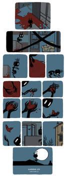 Pet Wendigo strip 11 - A bird made of blood by Algesiras
