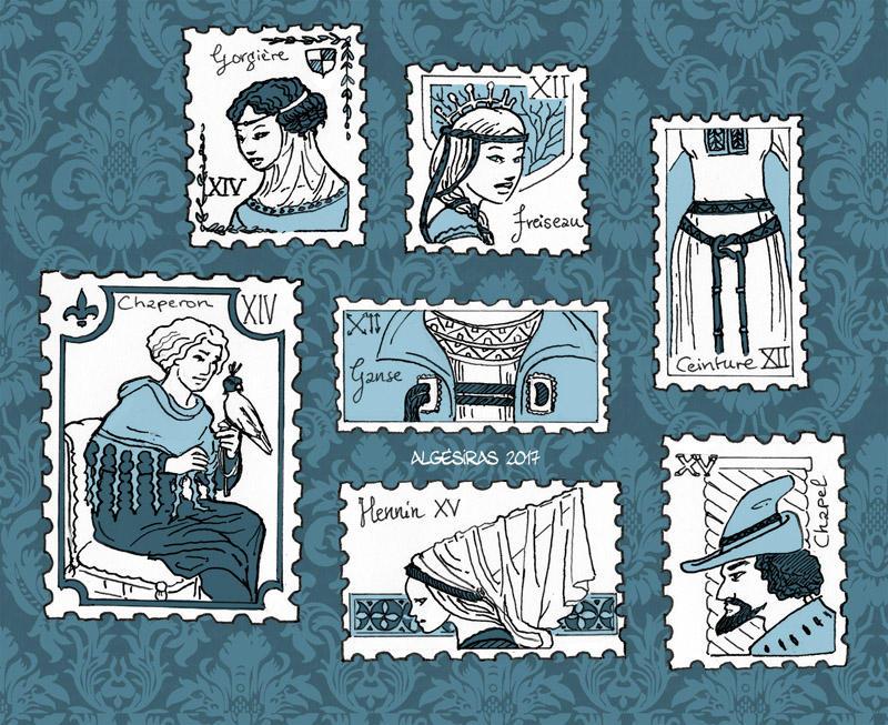 Inktober week 3 :medieval details by Algesiras