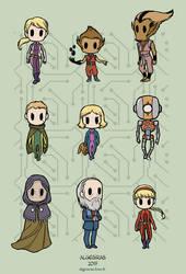 Terra Prime characters by Algesiras
