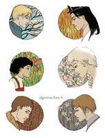 Inktober week 4 : profiles by Algesiras