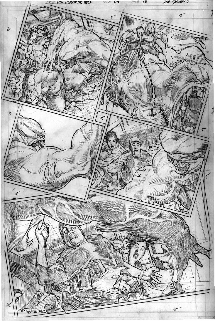 The Immortal Hulk # 05 Page # 15 by comicsofjoebennett