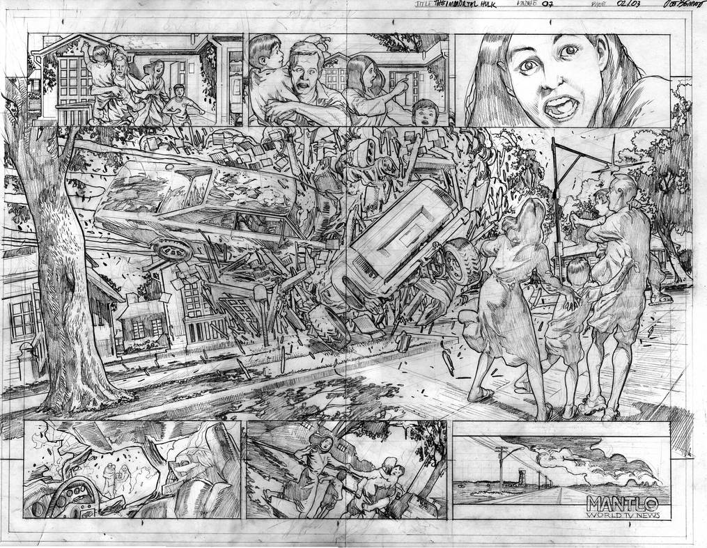 The Immortal Hulk # 07 Page # 02-03 Pencils by comicsofjoebennett