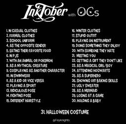 My Inktober Prompts for Ocs! by Bratchan