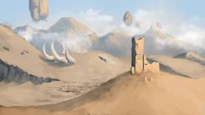 Desert landspace by Ksome