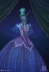 Fellmina at the Warcraft Ball by Angela-OHara