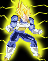 Super Vegeta coloured STAGE 5 by Barbicanboy