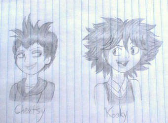 Humanized Cheatsy and Kooky by Kitty-McGeeky97