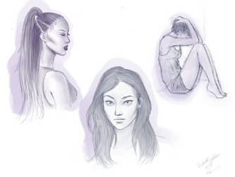 Pinterest sketches by ThaOnlyMoonchild