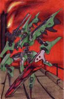 Noise: Green Samurai Mech by KuGinh