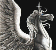 The One Winged Unicorn by pegacorn