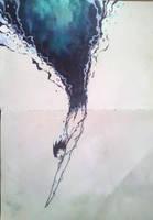 9. Dive - #Inktober by JustJaytor