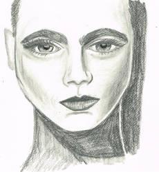 Portrait Femme2 by MarleneJedynak