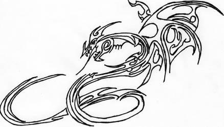 Tribal Dragon by PirateGeek5550