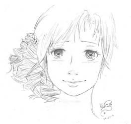 Chica con el pelo rizado by TinisaPlus