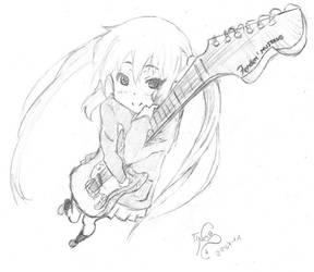 K-On Sketch 1: Azu-nyan by TinisaPlus