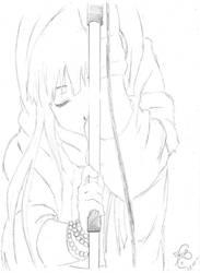 K-On Sketch 2: Mio by TinisaPlus