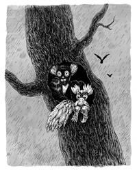 Hollow Tree by Bakhareva