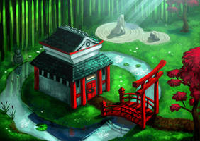 bamboo hermitage by lejellycat