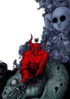 Hellboy Fan art by lejellycat