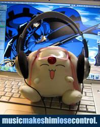 Mokona stole my headphones. by cafe-lalonde