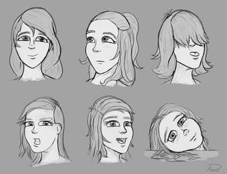 Female Faces by laspinter