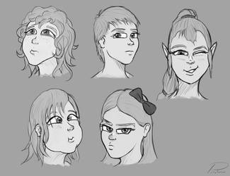 Female Faces 2 by laspinter