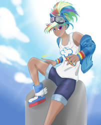FanArt: Rainbow Dash Kotobukiya style (+SpeedDraw) by MantarWolf
