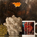 Fractal Wasp Mug and Friends by MANDELWERK