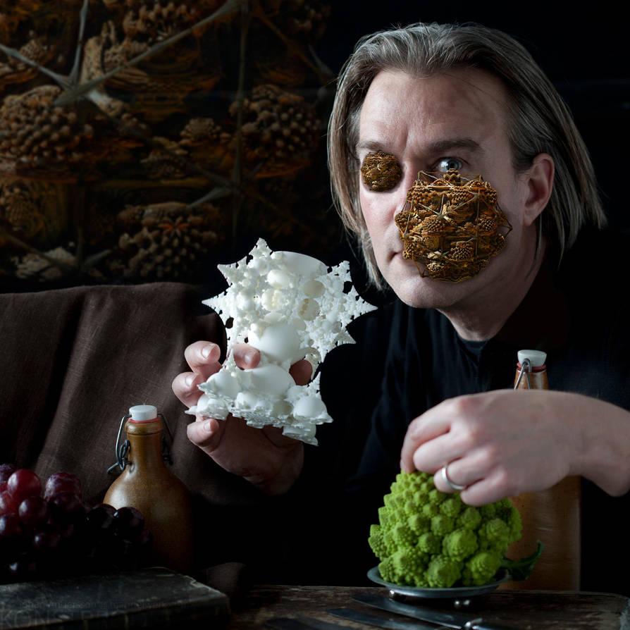 The GRAIL and a Basket of Bread in my Eye by MANDELWERK
