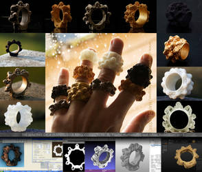 The Making of a Mandelbulb Ring Collection by MANDELWERK
