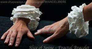 Slice of Spine -Two Vertebrae -3D printed Bracelet by MANDELWERK