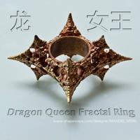 Dragon Queen Fractal ring - 3D printed in Bronze by MANDELWERK