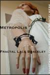 METROPOLIS - 3D printed Fractal Lace Bracelet by MANDELWERK