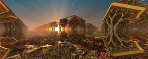 Fields of Cubic Woods by MANDELWERK
