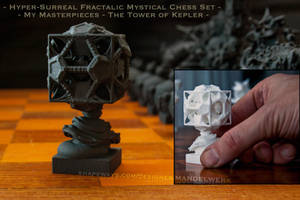 Surreal Chess Set - My Masterpieces - the Rook by MANDELWERK