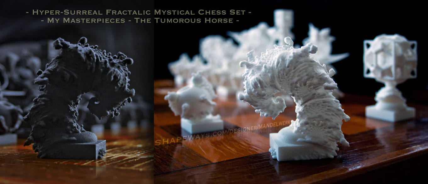 Surreal Chess Set - My Masterpieces - the Knight by MANDELWERK