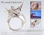 3D Printed Fractal Ring - Planetarium - by MANDELWERK