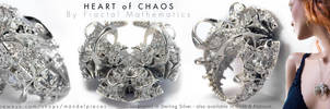 Heart of Chaos - Fractal Pendant - Sterling Silver by MANDELWERK