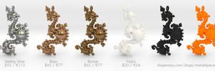 Kleinian Pearls Fractal Pendant 3Dprinted from $20 by MANDELWERK