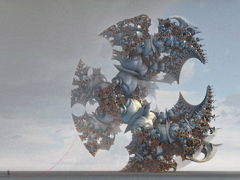 Marching Monstrosities of Global Pollution by MANDELWERK