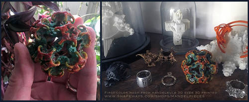 1st color mesh from mandelbulb 3D ever 3D printed! by MANDELWERK