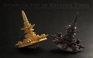 3D printed fractal Spinning top of Escaped Times by MANDELWERK