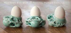 Kleinian egg cup - 3D printed in Ceramics by MANDELWERK