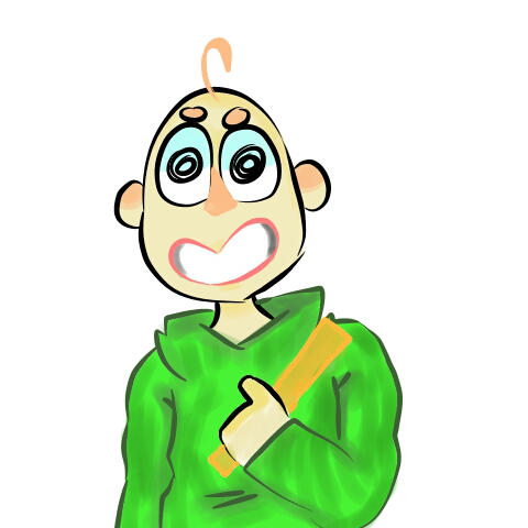 First time drawing Baldi in Medibang by MagicRainbowOfChica