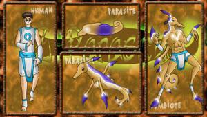 Z-Parasites: Dragon ref by HronawmonsTamer